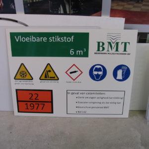 veiligheidsbord 80x60cm - richtprijs 95,-