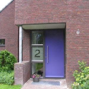 Zandstraal huisnummer - richtprijs 80,-
