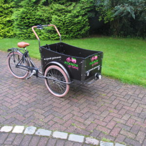 reclame op fietskar -  richtprijs  €130,-