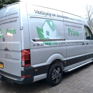 stickers op bus -  logo verloop in kleur - richtprijs 599,-