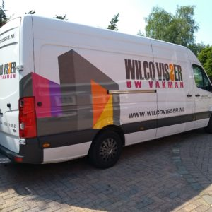 full colour sticker met teksten - richtprijs 1200,-