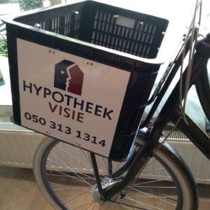 4x reclamebord voor een fiets - richtprijs - 130,-